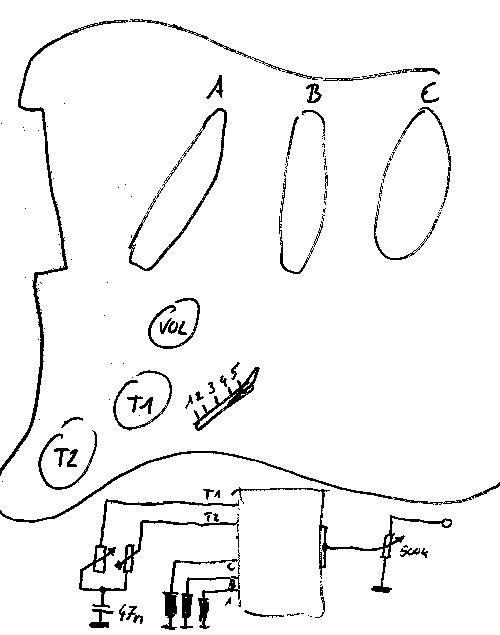 tnotes.de: Schaltplan einer Gitarre